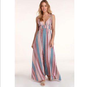 Lulus Maxin' Relaxin' Multi Print Dress